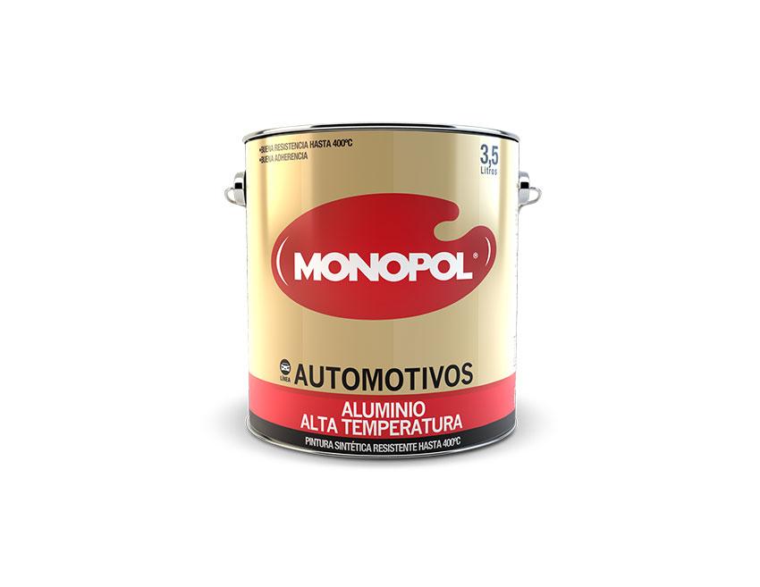 Pinturas monopol pintura aluminio alta temperatura 400 - Pintura para aluminio ...