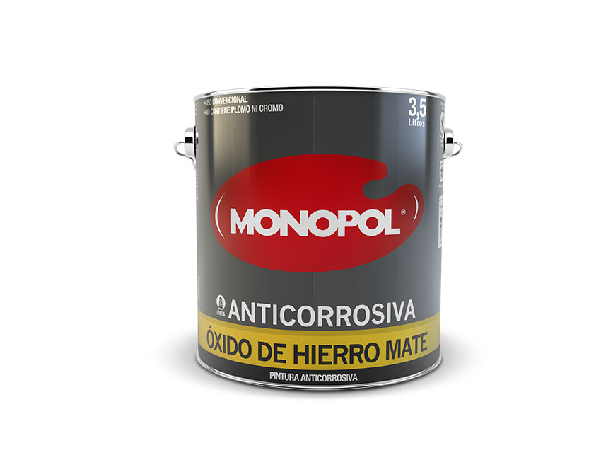 Pinturas monopol anticorrosiva oxido de hierro mate - Pintura para hierro exterior ...