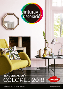 Tendencias en colores 2018